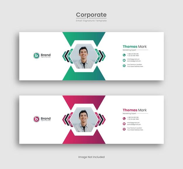 Kreatives e-mail-signatur-vorlagen-design premium-vektor
