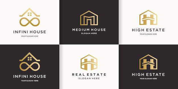Kreatives einfaches immobilien-logo-design