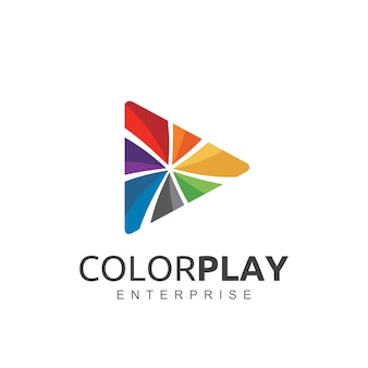 Kreatives farbspiel-logo-design.