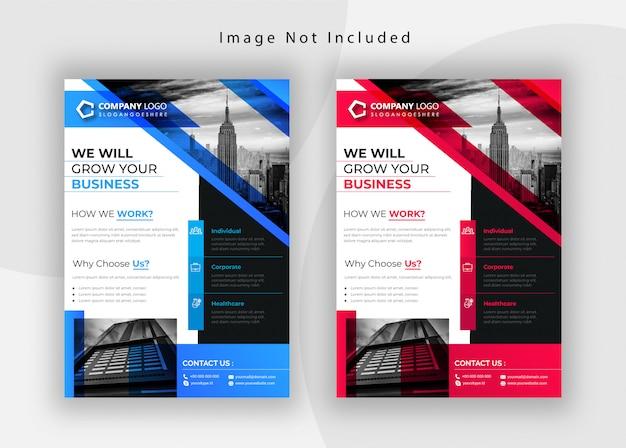 Kreatives firmenkundengeschäft flyer design
