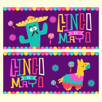 Kreatives flaches design cinco de mayo banner