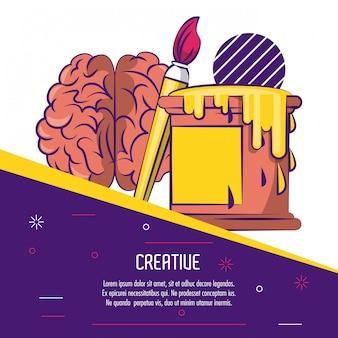 Kreatives gedankenplakat