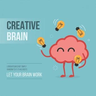 Kreatives gehirn hintergrund-design