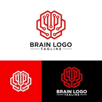 Kreatives gehirn-logo-bild