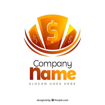 Kreatives geld-logo-design