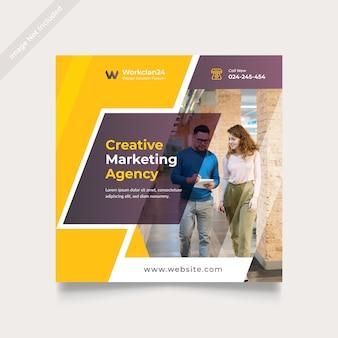 Kreatives geschäftsmarketing social media banner square