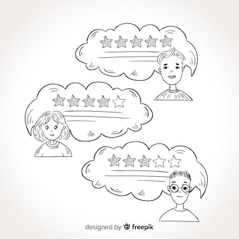 Kreatives hand gezeichnetes spracheluftblasenzeugnis