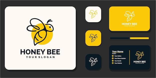Kreatives honigbienenlogo, referenz für unternehmen