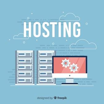Kreatives hosting-konzept