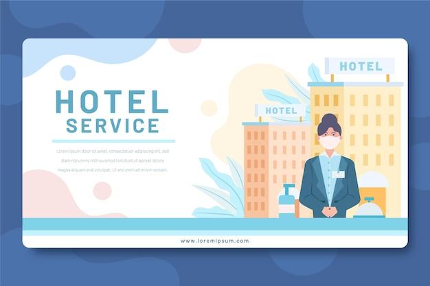 Kreatives hotelbanner des flachen designs