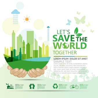 Kreatives ideenkonzept für ökologie und umweltschutz