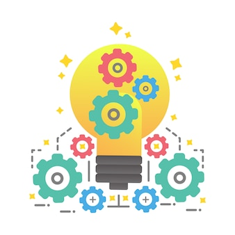 Kreatives ideenkonzept, ideendesign für das geschäft kreativ
