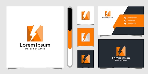 Kreatives ideenlogodesign und visitenkarte.