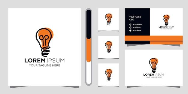 Kreatives ideenlogodesign und visitenkartenschablone.