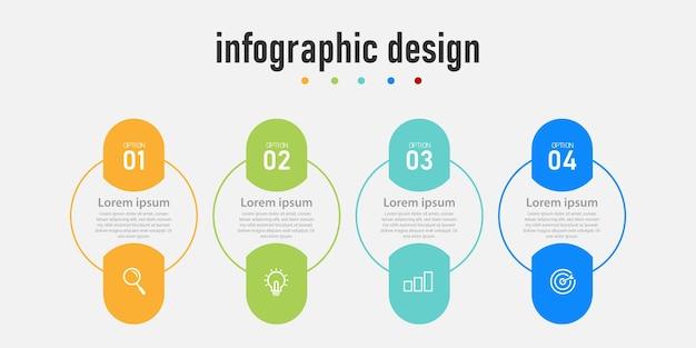 Kreatives infografik-design des präsentationsgeschäfts