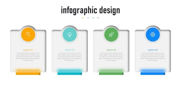 Kreatives infografik-design transparentes glaselement