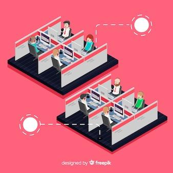 Kreatives isometrisches call-center