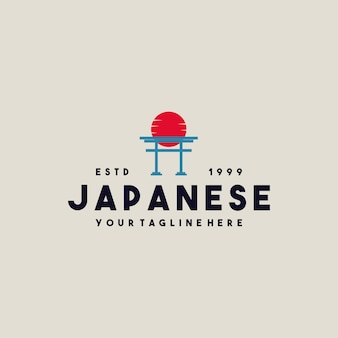 Kreatives japanisches torii-tor-logo-design