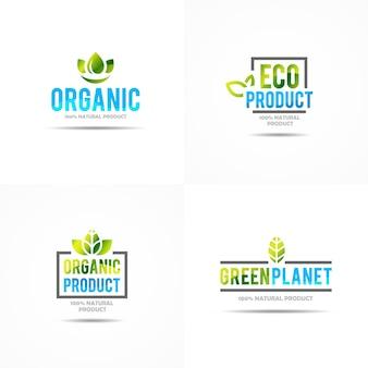 Kreatives konzept des grünen hauses logo template