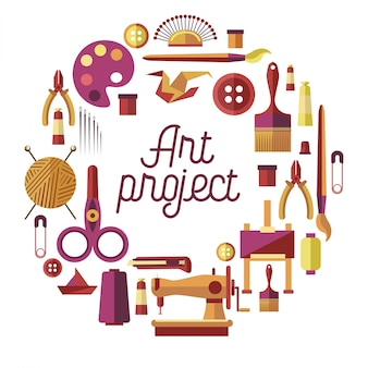 Kreatives kunstprojekt