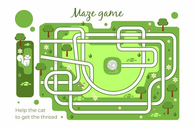 Kreatives labyrinth für kinderarbeitsblatt