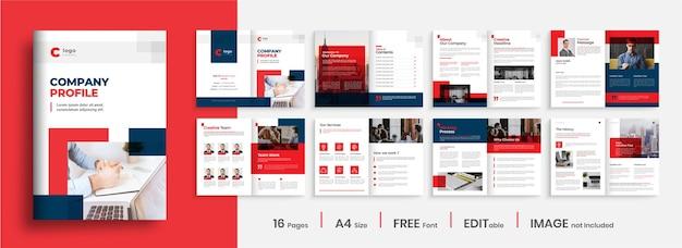 Kreatives layout der firmenprofilvorlage