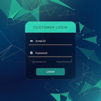 Kreatives login-formular ui vorlage für ihr web- oder app-design