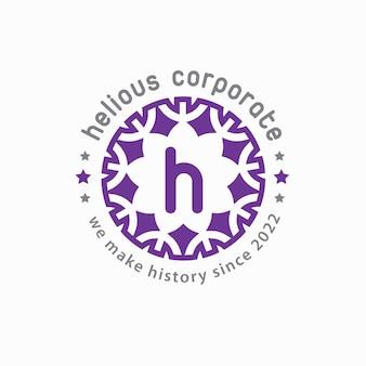 Kreatives logo mit blumenrand