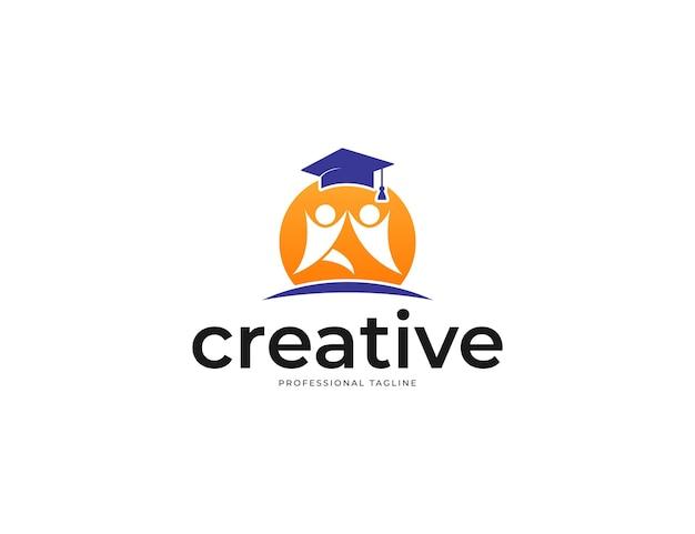 Kreatives logodesign für studium und schulbildung