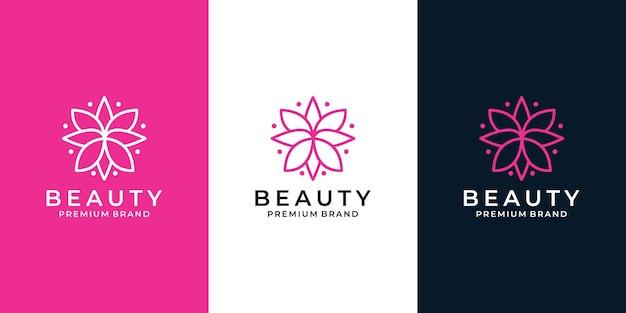 Kreatives lotus-schönheits-blumen-logo-design für ihr unternehmen