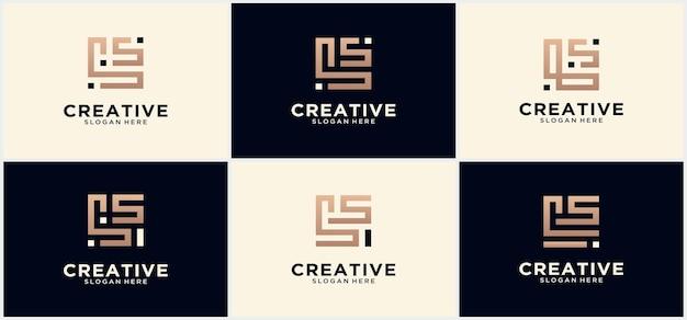 Kreatives ls-technologie-monogramm-logo in quadratischer form, alphabetbuchstaben ls-logo-monogramm-symbol, ls-quadrat-monogramm-anfangsbuchstabe