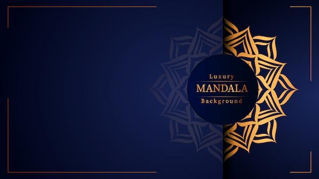 Kreatives luxus-mandala mit gold