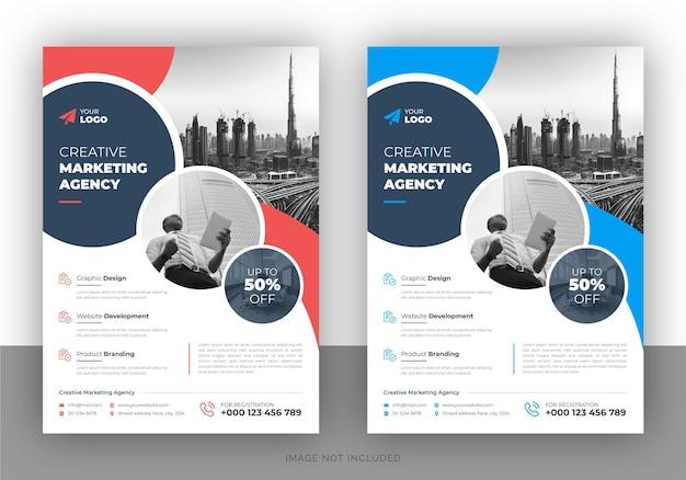 Kreatives marketing-werbeflyer-design und deckblattvorlage