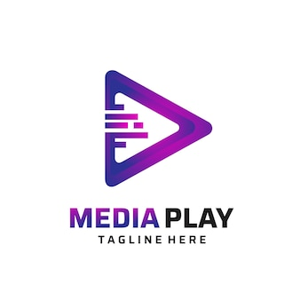 Kreatives media play-logo-design.