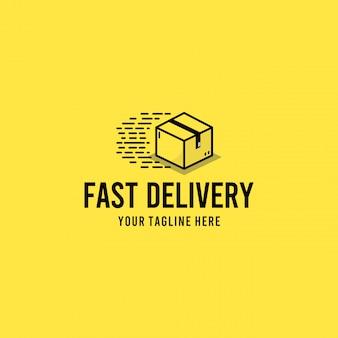 Kreatives modernes logo-design der schnellen lieferbox