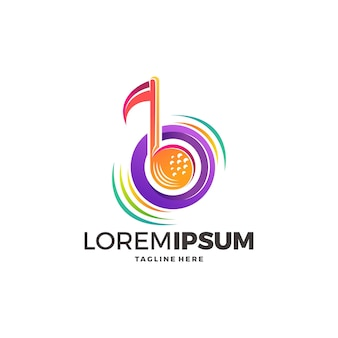 Kreatives musik-logo