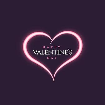 Kreatives neonstyle herzformdesign für valentinstag