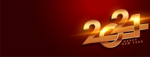 Kreatives neujahrsbanner mit 2021 zahlen