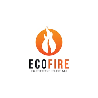Kreatives öko-feuer-logo