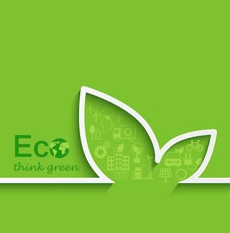 Kreatives öko-konzept-design.