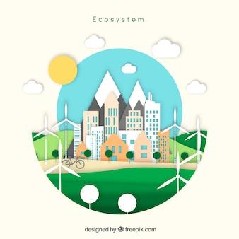 Kreatives ökosystemkonzept