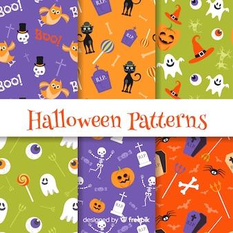 Kreatives paket von halloween-mustern
