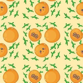 Kreatives pfirsich-emoticon-muster-hintergrundbild