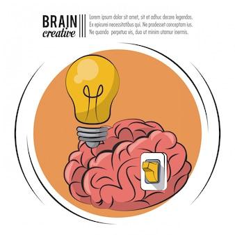 Kreatives plakat des gehirns mit informationen
