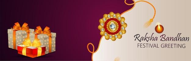 Kreatives rakhi für indisches festival happy raksha bandhan