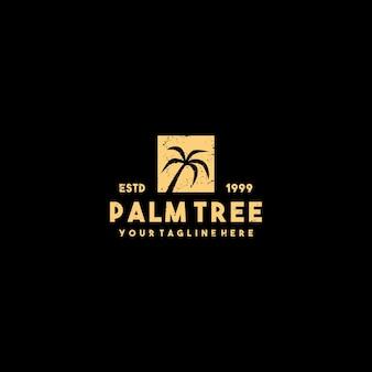 Kreatives schattenbild-palmenlogoentwurf