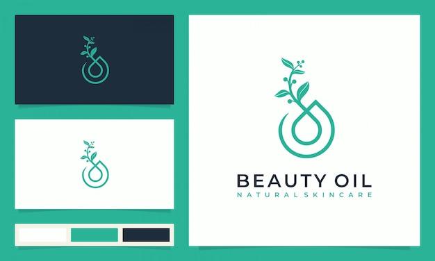 Kreatives schönheitsöl-hautpflege-logo-design