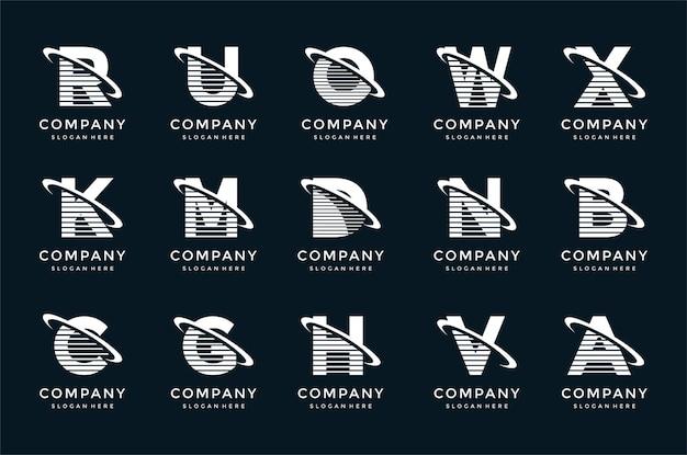 Kreatives schriftzug-logo-vorlagenset