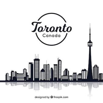 Kreatives Skylinedesign von Toronto
