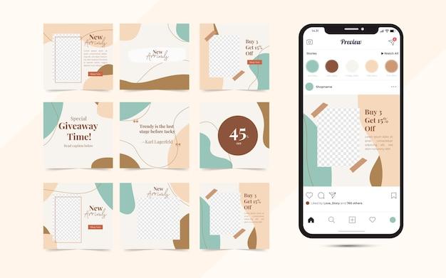Kreatives social media post template banner für modeverkaufsförderung